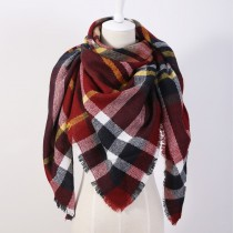 Tassels Plaid Fashion Women Shawls