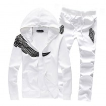 Top Fashion Wings Print Mens Tracksuits