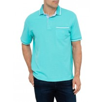 Turquoise Short Sleeve Cotton Polo Tshirt