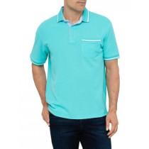 Turquoise Short Sleeve Cotton Polo Tshirt