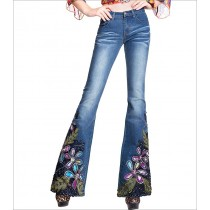 Unique Decorated Embroidered Women Jeans