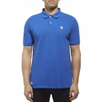 Varsity Blue Cotton Blend Classic Polo Tshirt