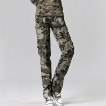 Women Casual Loose Military Cargo Trouser