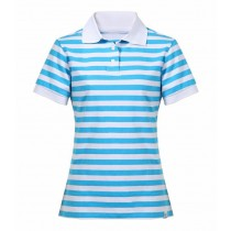 Women Casual Striped Slim Fit Polo Tshirts