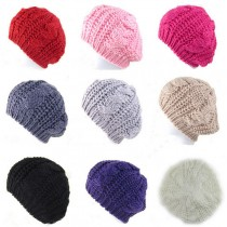 Women Crochet Warm Winter Knitted Caps