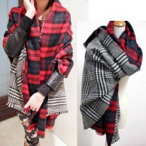 Women Double Knit Wool Cashmere Scarves
