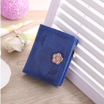 Women Fashion 3D Printing Flower Small Wallets
