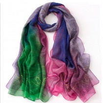 Women Fashion Chiffon Silk Printed Scarves