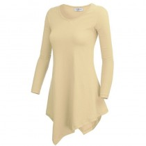 Women Long Sleeve Knitting Tunic T-shirts