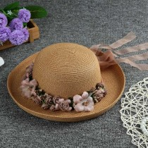 Women New Fashion  Foldable Anti-UV Wide Brim Hats