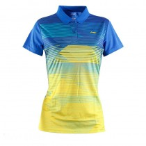 Women Quick Dry Striped Sport Polos
