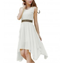 Women Sleeveless Chiffon Long Dresses