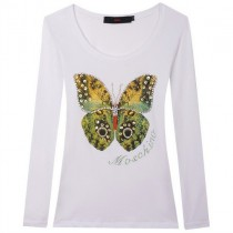 Womens Butterfly Design Long Sleeve T-Shirts