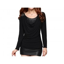 Womens Casual Slim O-Neck Long Sleeve T-Shirts