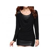 Womens Casual Slim O-Neck Long Sleeve T-Shirts