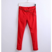 Womens Cotton Pencil Casual Trousers