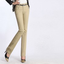 Womens Fashion Cotton Casual Trousers