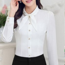 Womens Fashion Long Sleeve Chiffon Formal Shirts