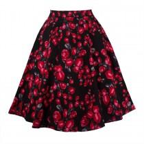 Womens Floral Print Midi Skirts