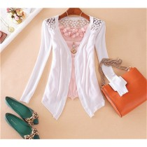 Womens New Fashion Crochet Knitwear Lace Tops