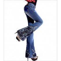 Womens New Fashion Decorated Jeans