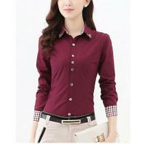Womens Plaid Button Down Formal Shirts