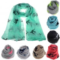 Womens Printed  Fashionable Long Scarves