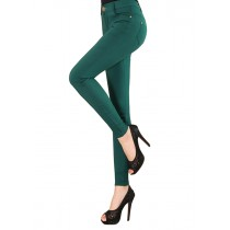 Womens Slim Pencil Elastic Stretch Trousers