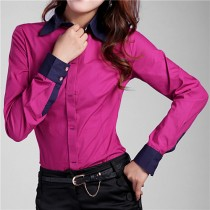 Womens Solid Button Down Formal Shirts