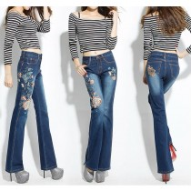 Womens Stretch Slim Jeans With Embroidery
