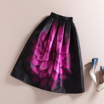Womens Stylish Flower Floral Print Skirts