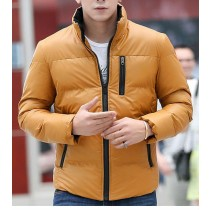 Yellow Cotton Warm Long Sleeves Jacket
