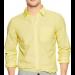 Casual Cotton Yellow Plain shirt